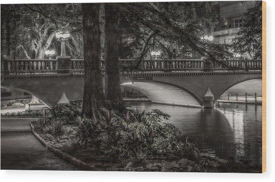 Navarro Street Bridge At Night Wood Print