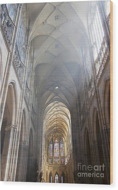 Nave Of The Cathedral Wood Print