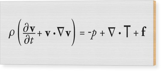 Navier-stokes Equation Wood Print by Science Photo Library