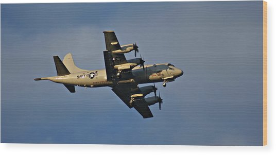 Navy P-3 Orion Turbo Prop Wood Print