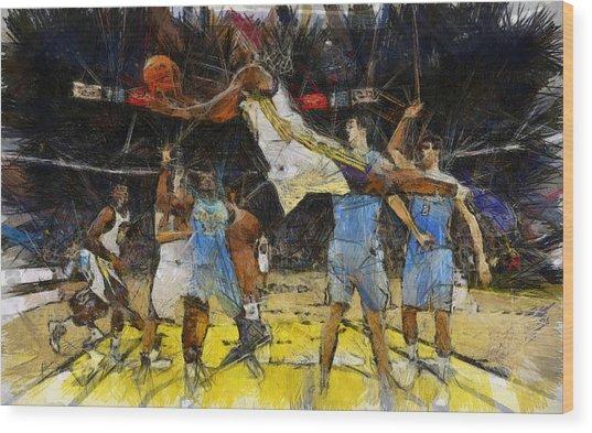 NBA Wood Print