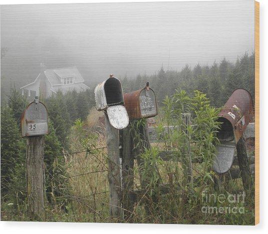 Nc Mailboxes Wood Print