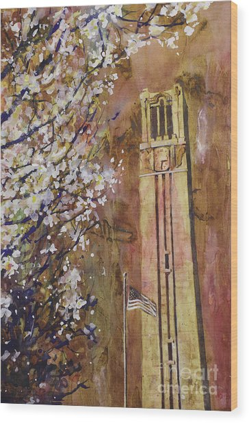 Ncsu Bell Tower Wood Print