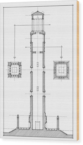 Ncsu Memorial Bell Tower Wood Print