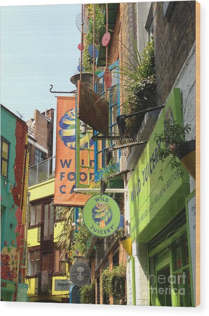 Neales Yard London Wood Print