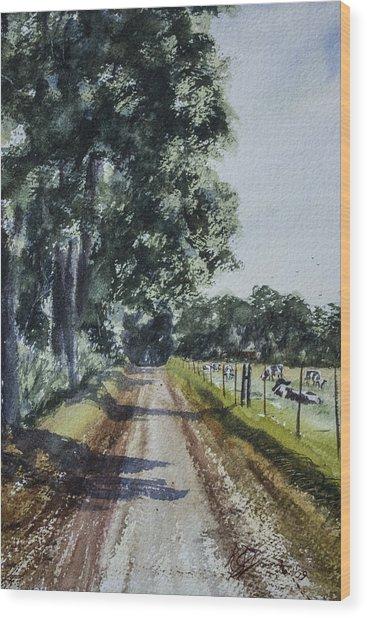 Nearing Goosecreek Wood Print