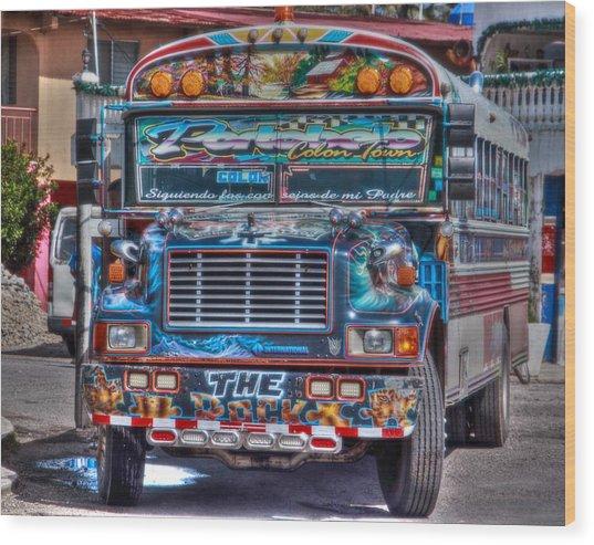 Neat Panamanian Graffiti Bus  Wood Print