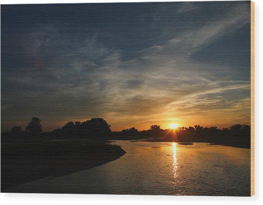 Nebraska River Wood Print