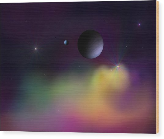 Nebula 2 Wood Print by Ricky Haug