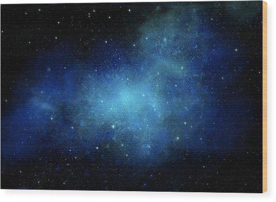 Nebula Mural Wood Print