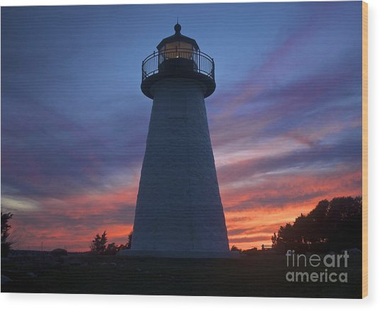 Ned's Point Lighthouse Wood Print by Amazing Jules