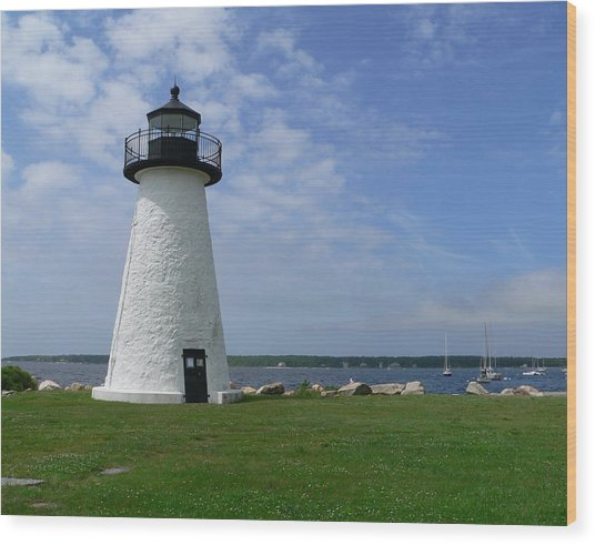 Neds Point Lighthouse Wood Print