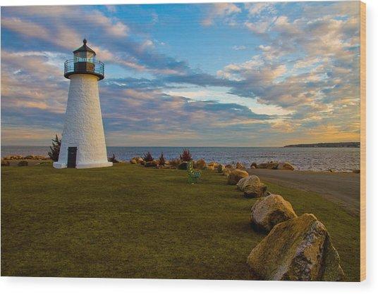 Neds Point Lighthouse Wood Print