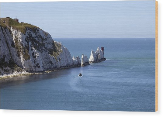 Needle's Isle Of Wight Wood Print