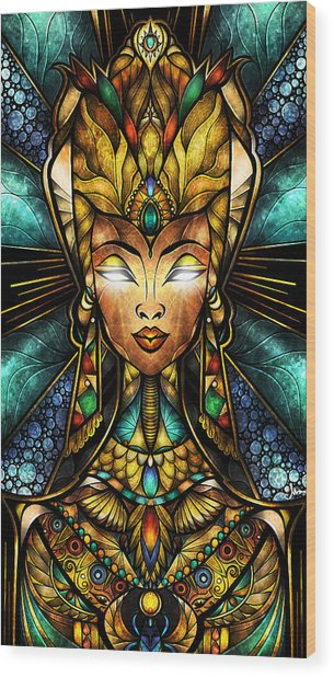 Nefertiti Wood Print