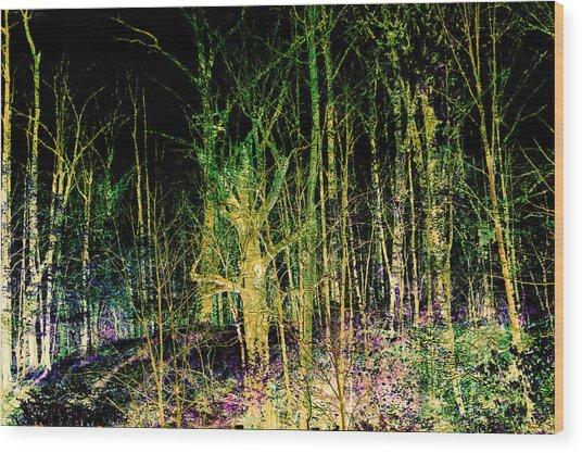 Negative Forest Wood Print