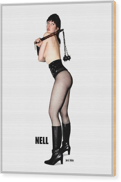 Nell Vgirl Pinup Wood Print