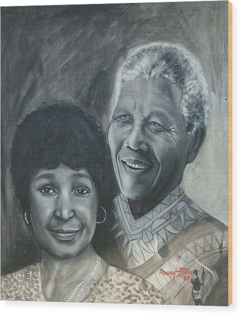 Nelson And Winnie Wood Print by Howard Stroman