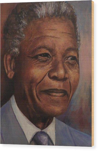 Nelson Mandela Wood Print