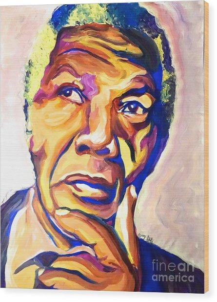 Nelson Mandela Thoughts Wood Print by LLaura Burge