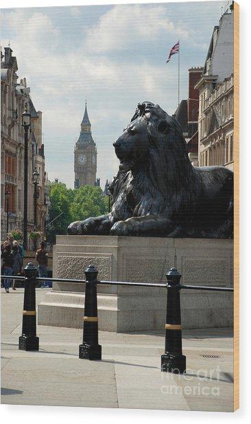 Nelson's Lion Wood Print