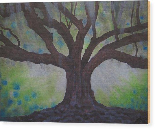 Nemeton Iv Or Southern Live Oak Wood Print