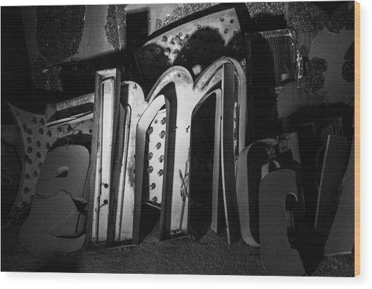 Neon 1 Wood Print