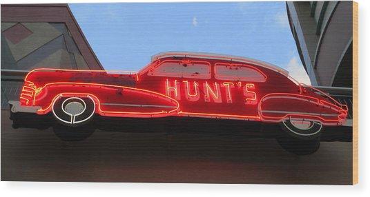 Neon Hunts Wood Print