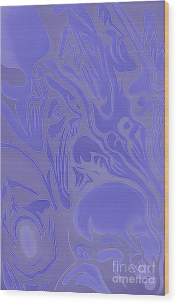 Neon Intensity Wood Print