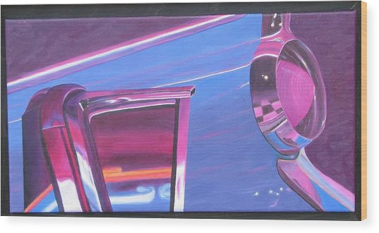 Neon Reflections IIi Wood Print