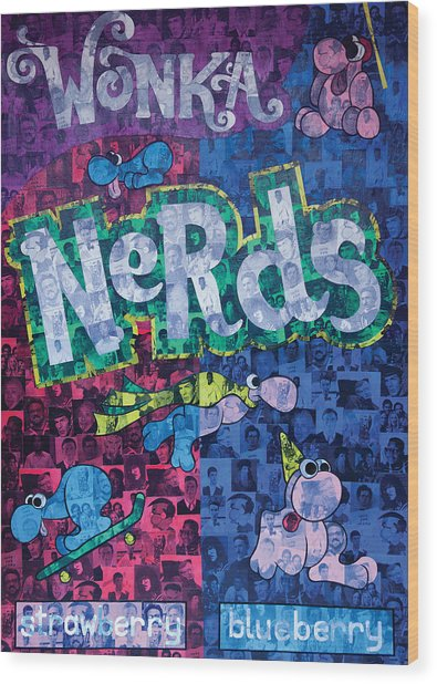 Nerds Wood Print