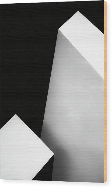 Nero Bianco Wood Print