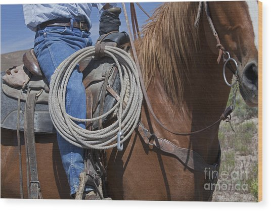 Nevada Cattle Ranch Wood Print