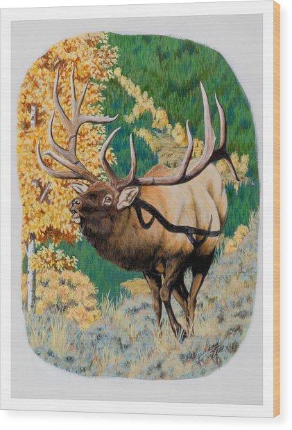 Nevada Nontypical Elk Wood Print