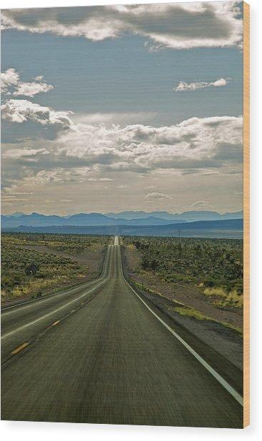Nevada Road Wood Print