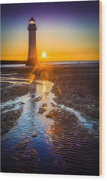 New Brighton Lighthouse Wood Print
