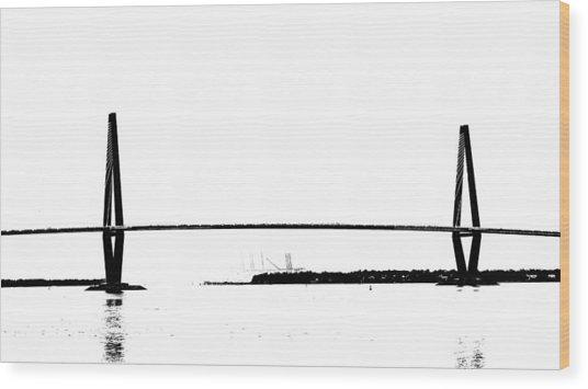 New Cooper River Bridge Wood Print by Philip Zion
