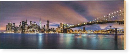 New Dawn Over New York Wood Print