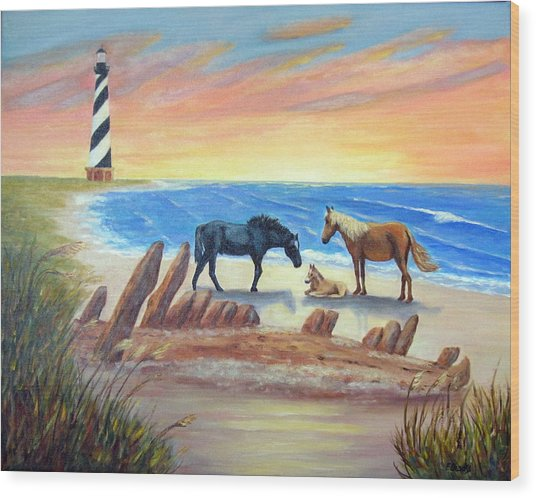 New Day - Hatteras Wood Print