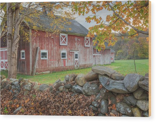 New England Barn Wood Print