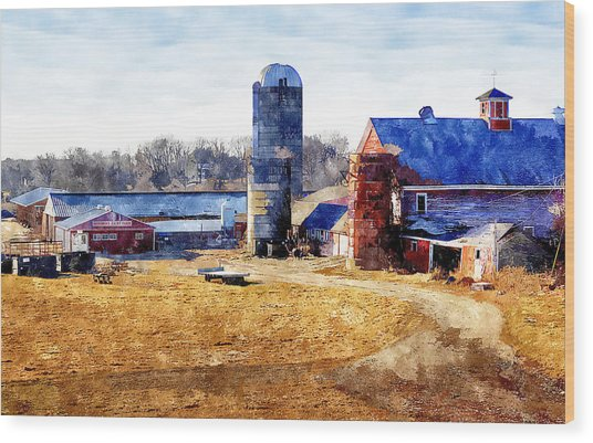 New England Farm 2 Wood Print