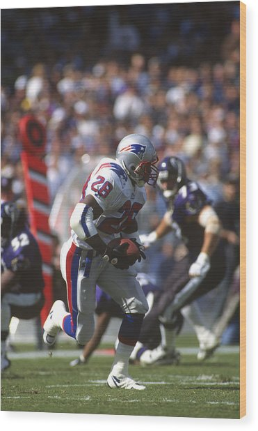 New England Patriots V Baltimore Ravens Wood Print by Focus On Sport