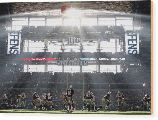 New England Patriots V Dallas Cowboys Wood Print by Christian Petersen