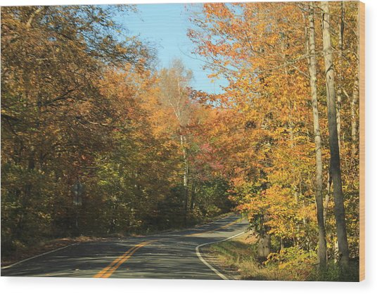 New England Road Wood Print