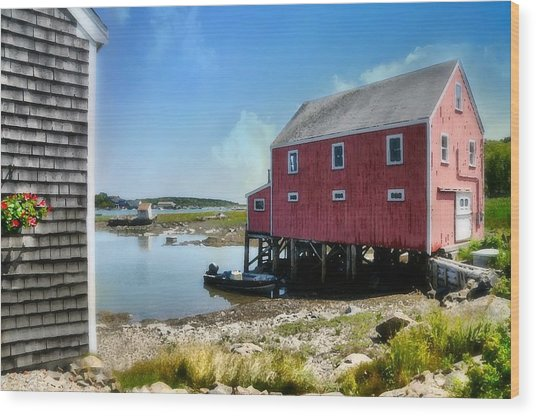 New England's  Maine Wood Print