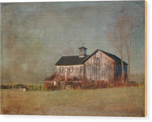 New Hampshire Barn  Wood Print