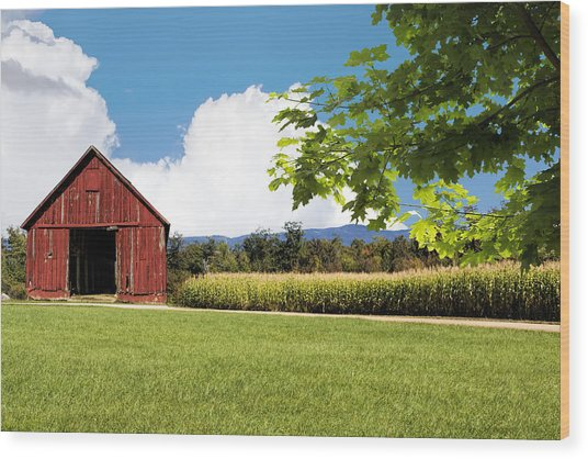 New Hampshire Barnyard Wood Print