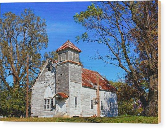 New Hope Mb Church Estill Ms Wood Print