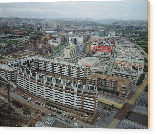 New Housing Development Wood Print
