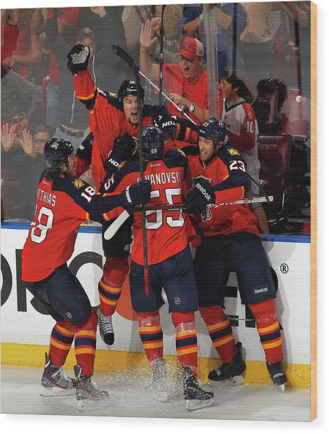 New Jersey Devils V Florida Panthers - Wood Print